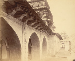 Cornices of the Raja Mahal (south), Chandragiri, North Arcot District